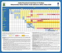 Jadwal Imunisasi IDAI 2020 untuk Anak 0-18 Tahun, Pengumuman Baru Nih Bun